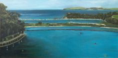 'Narooma Inlet' painted plein air. Oil paint on linen panel.