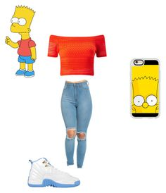 """""""Bart Simpson"""" by littlegeek03 on Polyvore featuring Miss Selfridge and Casetify"""