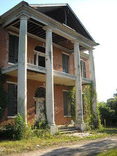Natchez... my favorite house (Melrose) before restoration.