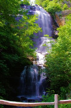 Shunkawauken Falls near Columbus and Tryon NC - photo by www.romanticasheville.com