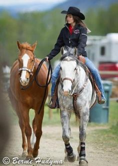 This is such a big goal of mine just me with my two horses riding going to rodeos weather it is barrels roping whatever I am so determined to get my life there! And this picture just reminds me of that for some reason