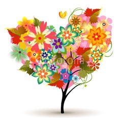 Blooming coração