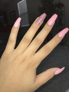 luv pinterest: desjau -  #desjau #luv #pinterest -  Pink acrylic nails - #Acrylic #desjau #luv #Nails #Pink #Pinkacrylicnails #Pinterest #AcrylicNailsGlitter Simple Acrylic Nails, Summer Acrylic Nails, Best Acrylic Nails, Acrylic Nail Designs, Summer Nails, Hair And Nails, My Nails, Acylic Nails, Fire Nails