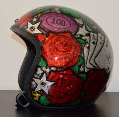 Helmet Daytona metal flake airbrushed -umbeDesign-