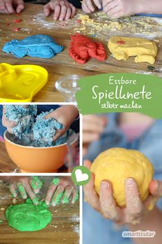 Edible play dough for children - do it yourself without cooking, Are you still looking for an exciting project for your children? How about homemade clay? Completely natural, edible and fun is guaranteed!