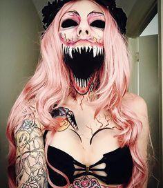 Awesome halloween makeup by Sarah Mudle - Imgur