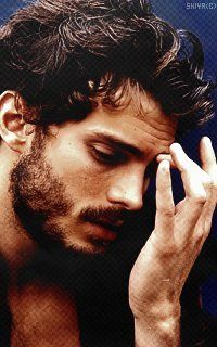 """His name is Jamie Dornan -- he's Irish, and he's in """"Once Upon A Time."""""""
