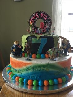 Zootopia Birthday Cake Connor, Jordan, and Mason's 7th Birthday