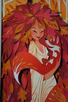 Autumnal Fox ~ by Brittney Lee Paper Cutting, Brittney Lee, Illustrator, Cut Out Art, Paper Illustration, Paper Artwork, Fox Art, Autumnal, Amazing Art