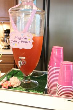 Drinks at a Fairy Party #fairy #partydrinks