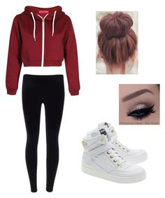 """""""Untitled #15"""" by alyssahislope22 ❤ liked on Polyvore featuring Boohoo and Moschino"""