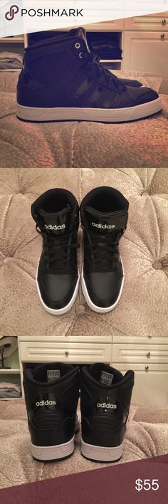 NWOB Adidas High Tops So urban and chic. Adidas Shoes Sneakers