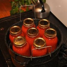 Canning tomatoes step by step