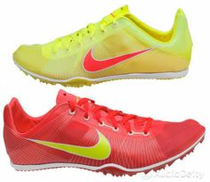 ►New NIKE Zoom Victory Track Field Spike Mid Distance Running Shoes Red Yellow