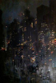 Blue Manhattan.    oil on canvas, for Rian.