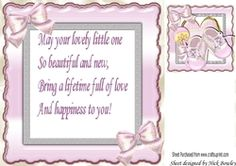 Baby Girls  with bows 8x8 insert with verse on Craftsuprint - View Now!