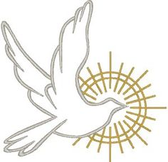 The dove is a symbol of the Holy Spirit and is used especially in representations of our Lord's Baptism and the Pentecost. It also symbolizes the release of the soul in death, and is used to recall Noah's dove, a harbinger of hope.