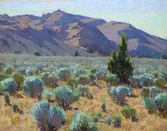 Sageland by Jean LeGassick Oil ~ 11 x 14 Watercolor Landscape, Landscape Art, Landscape Paintings, Desert Landscape, Southwestern Art, Into The West, Desert Art, Traditional Paintings, Mountain Landscape