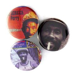 Lee Scratch Perry Buttons Original Doobie Dub Reggae Rock Pins Jamaica 420 Master Badges by JeepsterVintage on Etsy