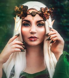 "3,431 Likes, 38 Comments - Ashley ""Freckles"" Ormaza (@frecklesfairychest) on Instagram: "" Elven warrior photo by @shelbyrobinsonphotos. Crown, mua, model: myself. I'm gearing up for my…"""