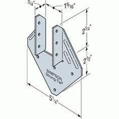Simpson Strong Tie Hurricane Tie, Provides Resistance To Uplift 12 Pack Hurricane Clips, Roof Truss Design, Lean To Roof, Diy Shed Plans, Stainless Steel Nails, Roof Trusses, Cabin Kits, Tiny House Design, Diy Wood Projects