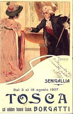 Tosca, Giacomo Puccini - Opera Poster, 1907.
