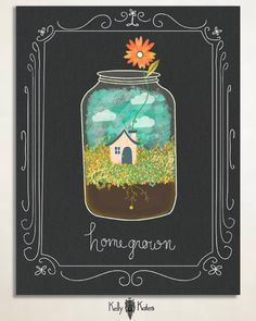 Homegrown by Kelly Kates, via Behance. Here is submission for Lilla Rogers Global Talent Search. It was a fun assignment! Keeping fingers crossed!