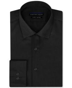 Geoffrey Beene Men's Fitted No-Iron Stretch Sateen Dress Shirt -