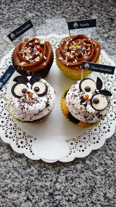 Little owl oreo and milked candy roses topping