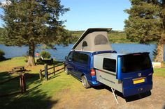 Doubleback made an electric slide out rear pod for VW-Camper, it give you 2 more meters living space. It is a cool idea.