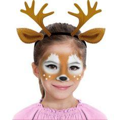 The Deer Makeup Kit includes various makeup you can use to complete your deer costume. Prance into the Halloween party ready for woodland fun when you do your makeup with this kit! Make Up Kits, Face Painting Designs, Body Painting, Cute Halloween Makeup, Halloween Party, Halloween Ideas, Eyebrows For Face Shape, Deer Makeup, Deer Costume Makeup