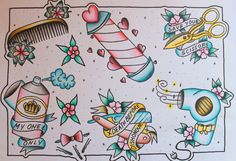 Hairstylist tattoo flash!!