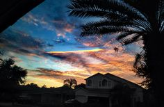 Sunset from my front yard last night (Florida). follow @dquocbuu if you love it