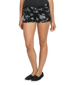 Black Gray Floral Shorts from WetSeal.com