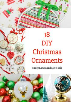 Want to make your own Christmas Ornaments? Check out these 18 DIY Christmas Ornaments for some great ideas!