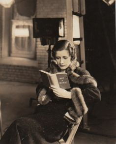 Irene Dunne and her book.