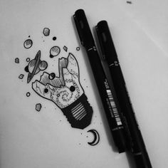 Pin by amelia atherton on my tattoo ideas in 2019 desenhos a Tumblr Drawings, Cute Drawings, Tattoo Drawings, Body Art Tattoos, Tatoos, New Traditional Tattoo, Lightbulb Tattoo, Oldschool Tattoos, Tattoo Ideas