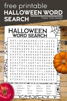 This Halloween word search is the perfect Halloween printable activity for a Halloween party or get together. Halloween Themed Food, Classroom Halloween Party, Halloween Words, Halloween Activities For Kids, Halloween Party Games, Party Activities, Halloween Design, Halloween Themes, Halloween Crafts