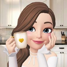 Good morning world ☕☕☕ Code: Buongiorno Messaggi Cute Cartoon Pictures, Cute Cartoon Girl, Cartoon Art, Anna Disney, Disney Princess, Cute Love Images, Hijab Cartoon, Cartoons Love, Cute Girl Wallpaper