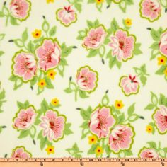 Nursery Fabric: Fabric.com - Nicey Jane Micro Fleece Church Flowers Pink EW-807 $4.99