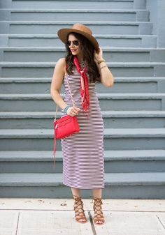 maxi dress 4th of july easy