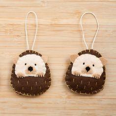 Handmade Felt Hedgehog Ornament Decorative Felt Animal #feltanimalsdiy (snowman crafts cups)