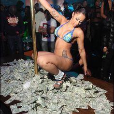 Money USA US American Dollar Bills Stripper Cardi B