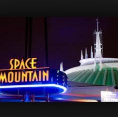 Space Mountain, my favorite ride at Disney World