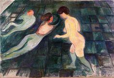 Edvard Munch :Norwegian 1863-1944. Bathing women 1896 -1897