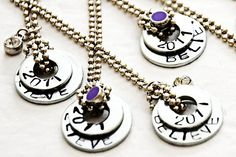 Stamped washer necklaces