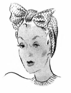 Free 1930's Sewing Pattern- A Smart Dusting Cap