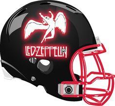 Led Zeppelin Helmet from a Fantasy Football League