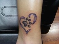 dog paw print tattoos for women - Google Search