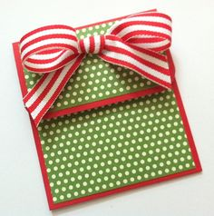 Kts paper designs fold open easter gift card holders easter christmas gift card holder in red and green on luulla by murtsss negle Images